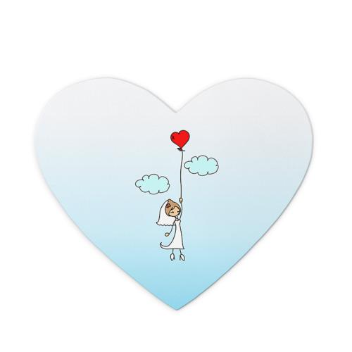 Коврик сердце  Фото 01, Невеста на шарике