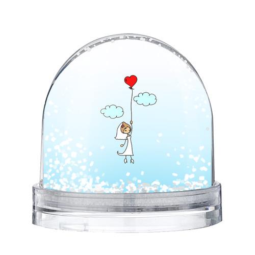Водяной шар со снегом Невеста на шарике