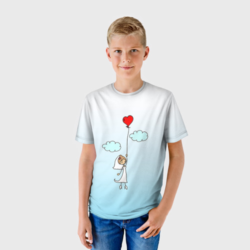 Детская футболка 3D Невеста на шарике