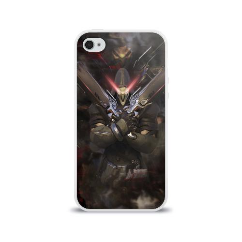 Чехол для Apple iPhone 4/4S силиконовый глянцевый  Фото 01, Overwatch