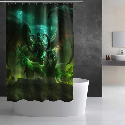 Штора 3D для ванной  Фото 02, Иллидан