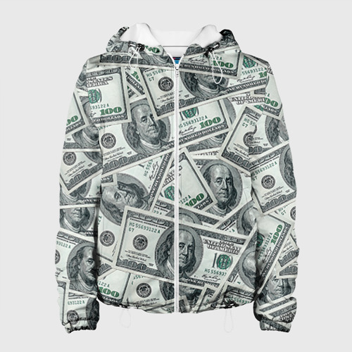 Женская куртка 3D  Фото 01, Банкноты