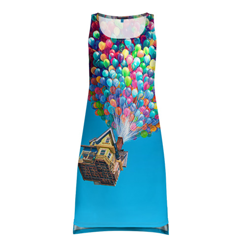 Платье-майка 3D Дом на шариках