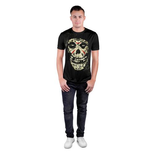 Мужская футболка 3D спортивная Череп Фото 01