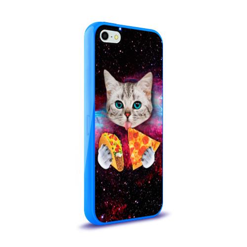 Чехол для Apple iPhone 5/5S силиконовый глянцевый Кот с едой Фото 01