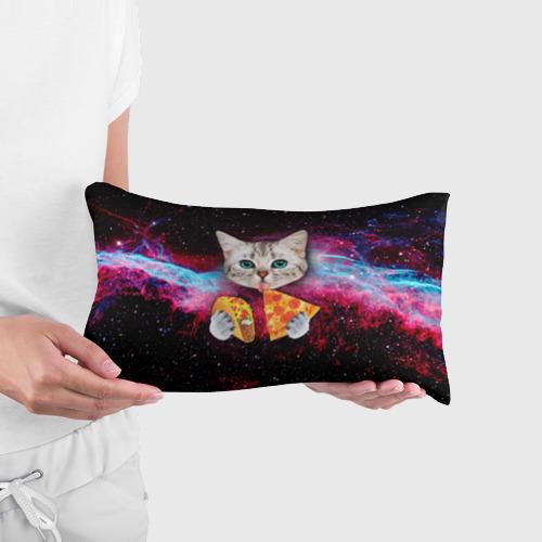 Подушка 3D антистресс Кот с едой Фото 01