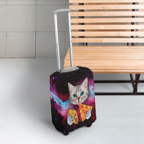 Чехол для чемодана 3D  Фото 03, Кот с едой