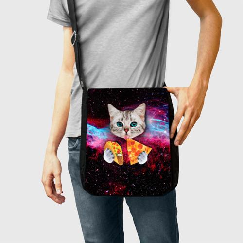 Сумка через плечо Кот с едой Фото 01