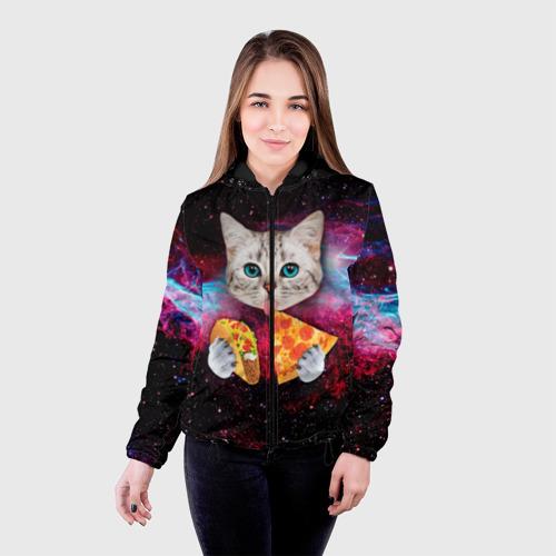 Женская куртка 3D Кот с едой Фото 01