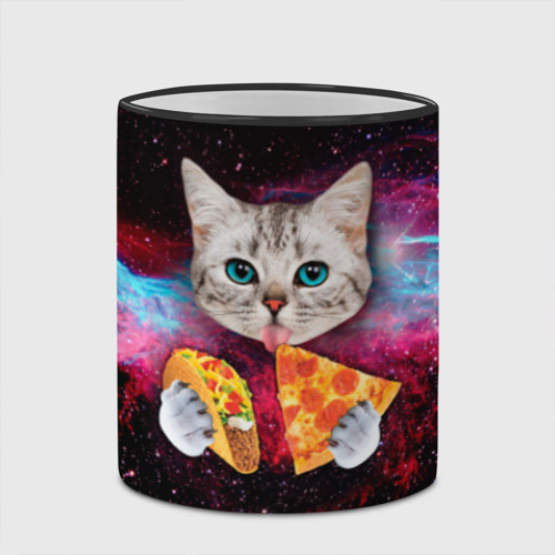 Кружка с полной запечаткой Кот с едой Фото 01