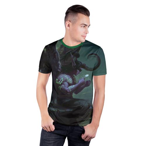 Мужская футболка 3D спортивная  Фото 03, Иллидан