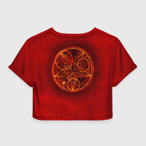 Женская футболка 3D укороченная  Фото 02, Демон