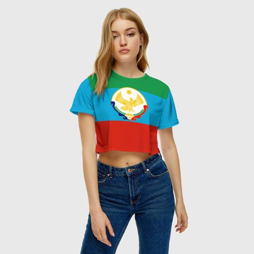 Женская футболка 3D укороченная  Фото 04, Дагестан