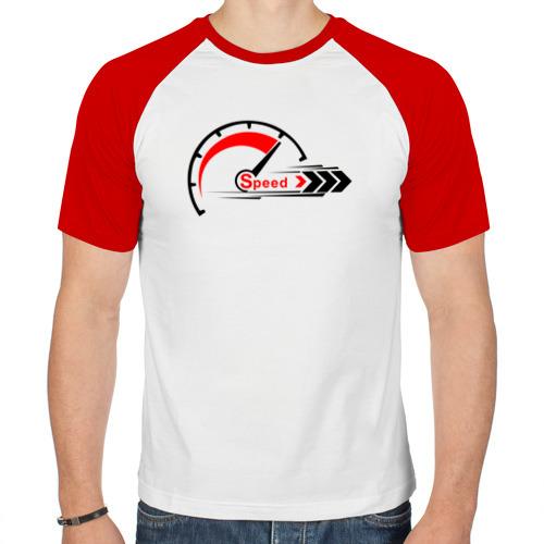Мужская футболка реглан  Фото 01, Я люблю скорость «black»