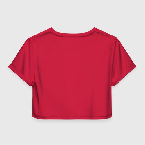 Женская футболка 3D укороченная  Фото 02, YOU`LL NEVER WALK ALONE