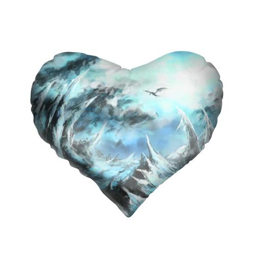 Подушка 3D сердце  Фото 01, Горы