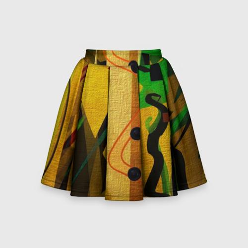 Детская юбка-солнце 3D Сафари