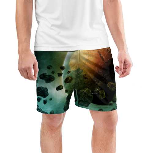 Мужские шорты 3D спортивные  Фото 03, Метеориты