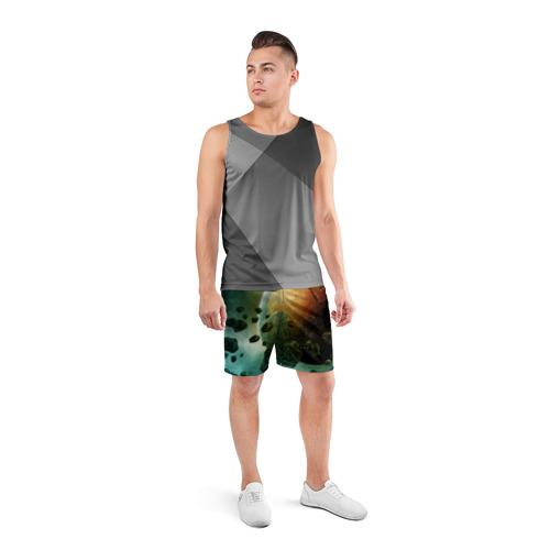 Мужские шорты 3D спортивные  Фото 04, Метеориты