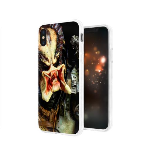 Чехол для Apple iPhone X силиконовый глянцевый  Фото 03, Чужой