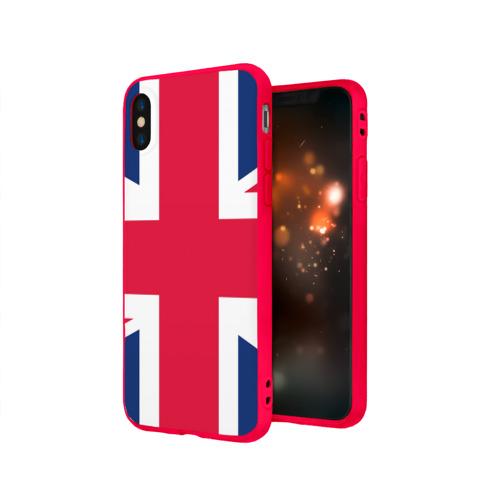 Чехол для Apple iPhone X силиконовый матовый Великобритания Фото 01