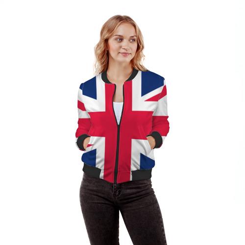 Женский бомбер 3D Великобритания Фото 01