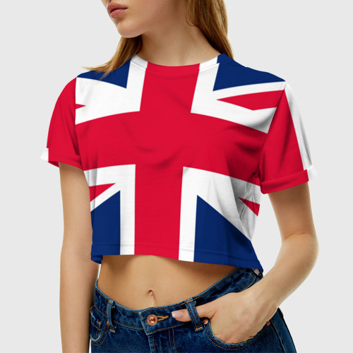 Женская футболка 3D укороченная Великобритания