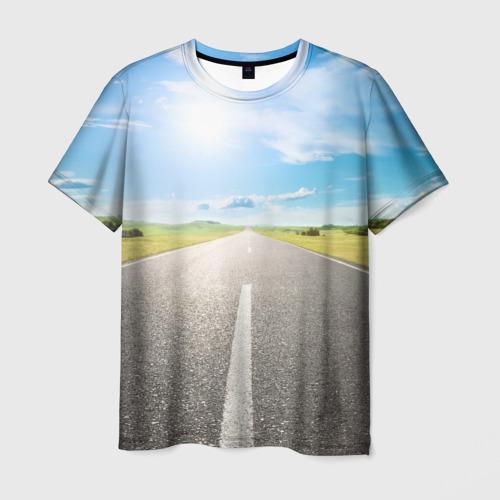 Мужская футболка 3D  Фото 01, По дороге жизни