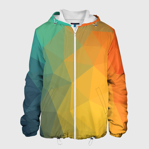 Мужская куртка 3D  Фото 01, LowPoly Gradient