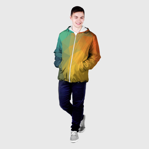 Мужская куртка 3D  Фото 03, LowPoly Gradient