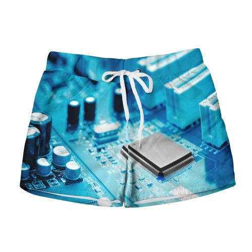 Женские шорты 3D Материнская плата