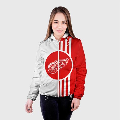 Женская куртка 3D  Фото 03, Детройт Ред Уингз