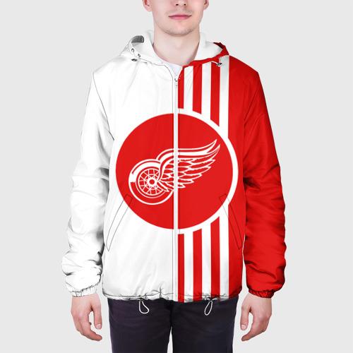 Мужская куртка 3D  Фото 04, Детройт Ред Уингз