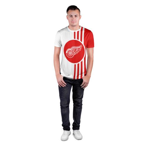 Мужская футболка 3D спортивная  Фото 04, Детройт Ред Уингз