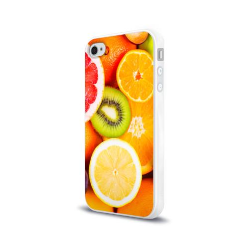 Чехол для Apple iPhone 4/4S силиконовый глянцевый  Фото 03, Фрукты