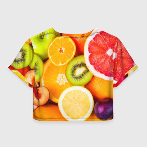 Женская футболка 3D укороченная  Фото 02, Фрукты