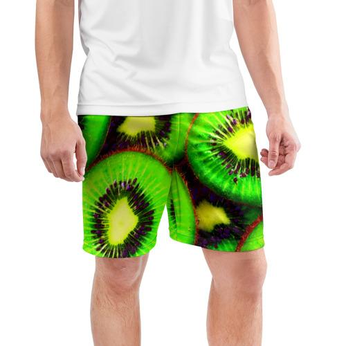 Мужские шорты 3D спортивные  Фото 03, Киви
