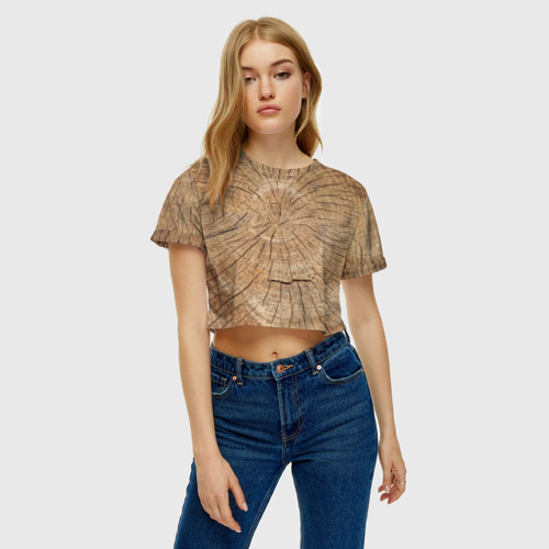 Женская футболка 3D укороченная  Фото 04, Сердцевина