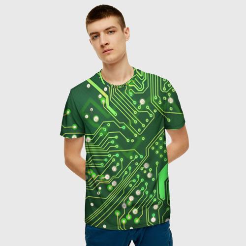Мужская футболка 3D Микросхема Фото 01