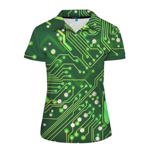 Женская рубашка поло 3D Микросхема