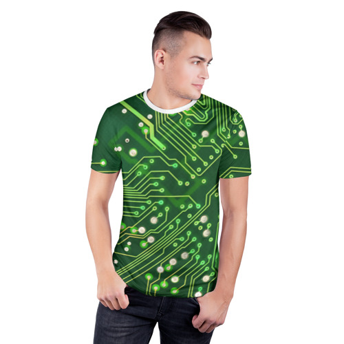 Мужская футболка 3D спортивная Микросхема Фото 01