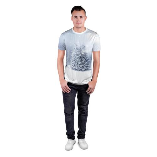 Мужская футболка 3D спортивная  Фото 04, Зимняя пора