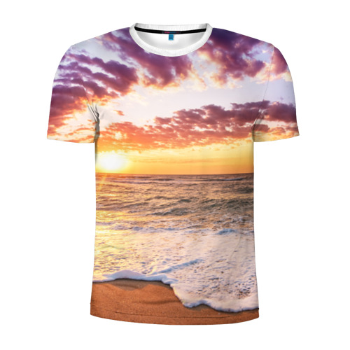 Мужская футболка 3D спортивная  Фото 01, Sunset
