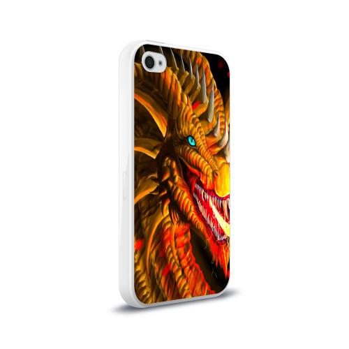 Чехол для Apple iPhone 4/4S силиконовый глянцевый  Фото 02, Дракон