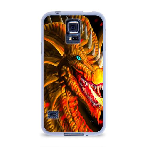 Чехол для Samsung Galaxy S5 силиконовый  Фото 01, Дракон
