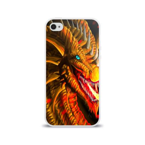 Чехол для Apple iPhone 4/4S силиконовый глянцевый  Фото 01, Дракон