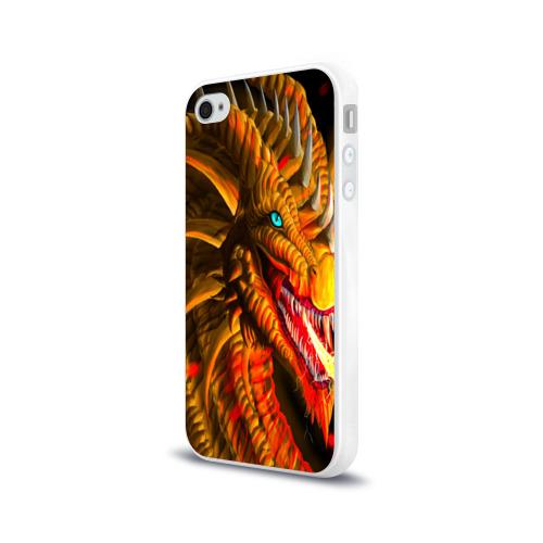 Чехол для Apple iPhone 4/4S силиконовый глянцевый  Фото 03, Дракон