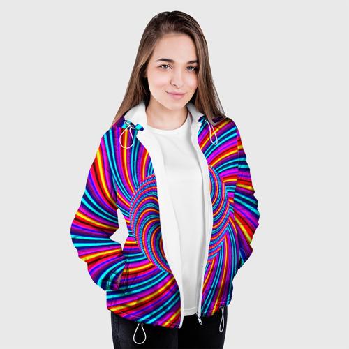 Женская куртка 3D  Фото 04, Радуга