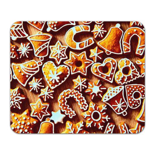 Коврик прямоугольный Новогоднее печенье от Всемайки