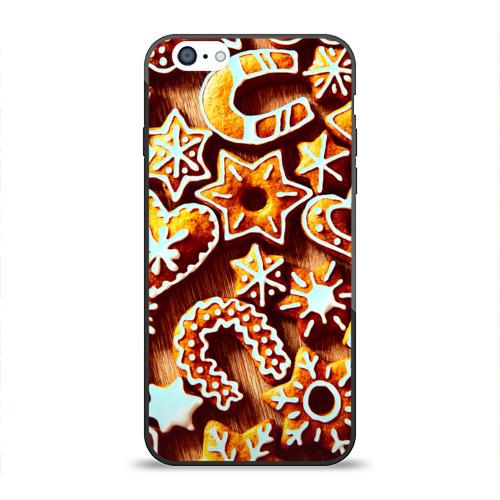 Чехол для Apple iPhone 6 силиконовый глянцевый Новогоднее печенье от Всемайки